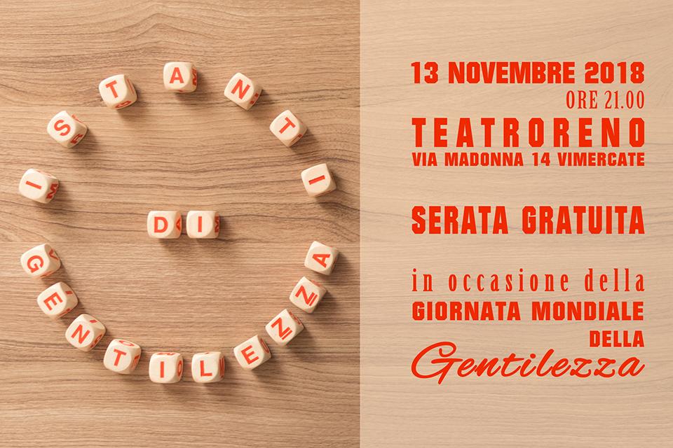 13 Novembre 2018: Istanti di Gentilezza