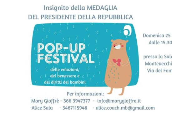 25 Novembre 2018: Pop-up Festival dei Bambini